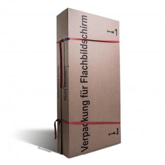 Packmittelfür den Umzug: Karton für Flachbildschirme