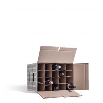 Packmittelfür den Umzug: Pappkarton für Flaschen