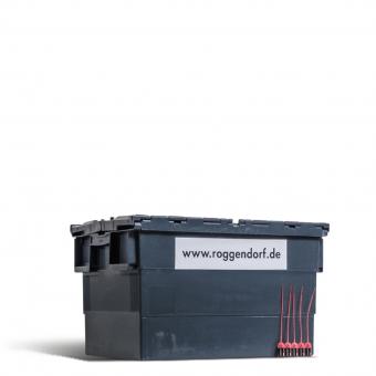Packmittelfür den Umzug: Plastikbox