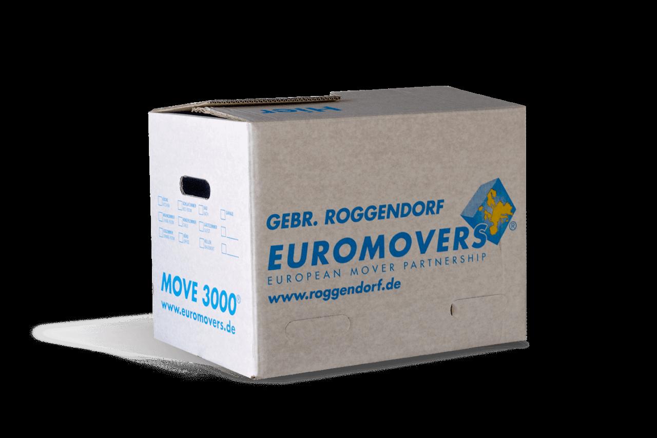 Ein Umzugskarton von Euromovers