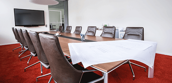 Büroraum ohne Menschen