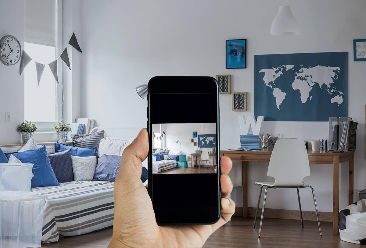 Wohnungsbesichtigung digital mit dem Handy