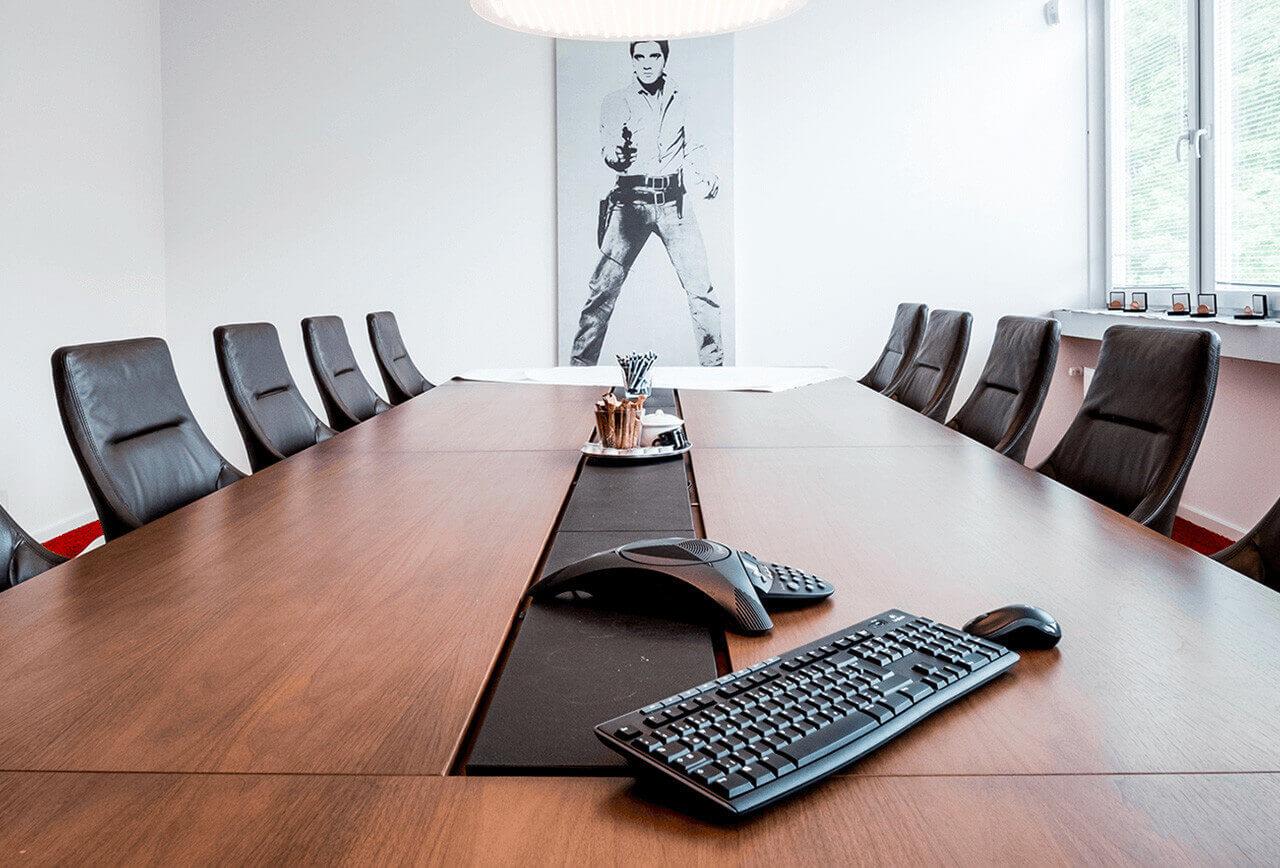 Leerer Besprechungsraum vor HR